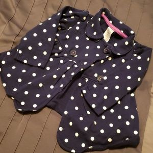 Polka dot pea coat